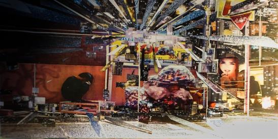 LOST - photo collage - 20x40cm