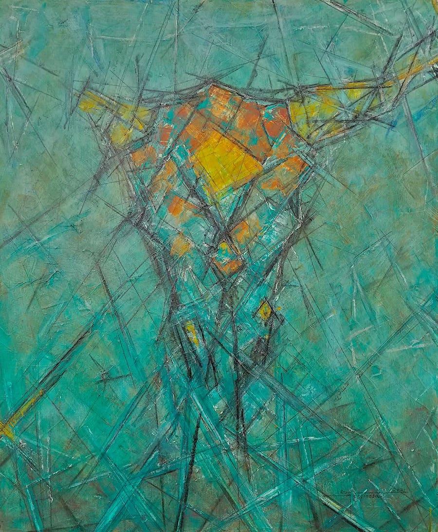 espinosa-art-abstract-figurative-cowskull-w