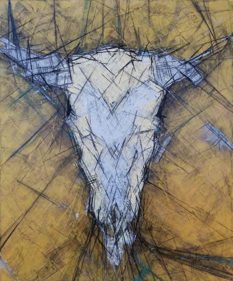espinosa-art-cowskull-painting-gold-w